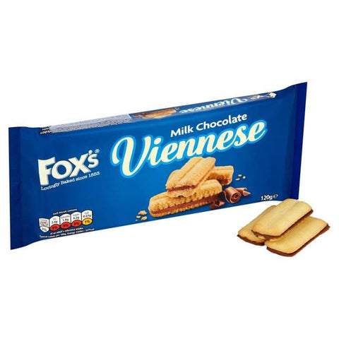 Foxs Biscuits - Chocolate Viennese Milk Chocolate 120g
