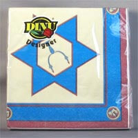 DINU Napkins - Magen David Gold (Pack of 20) 111g