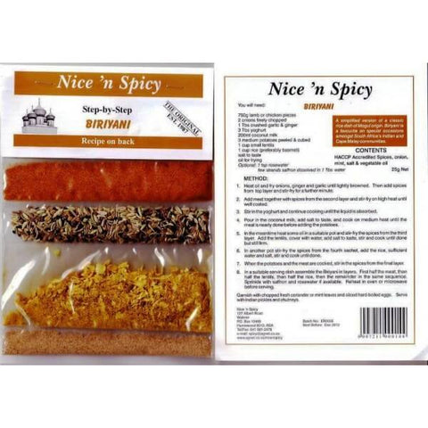 Nice and Spicy - Biriyani Spice Mix 25g