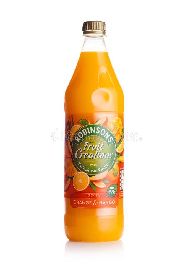 Robinsons Creations Zesty Orange and Mango Fruit Squash No Added Sugar 1L