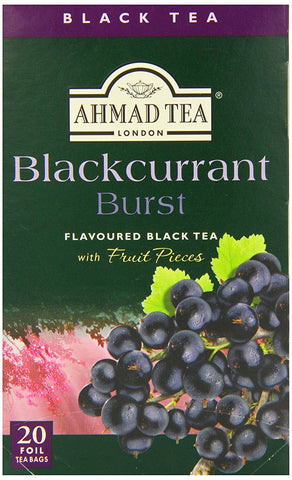 Ahmad Blackcurrant Burst Tea Bags (Pack of 20) 40g