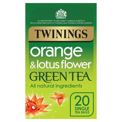 Twinings Orange and Lotus Flower Green Tea Bags (Pack of 20) 40g