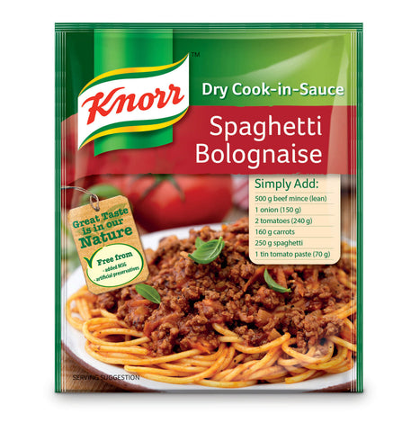 Knorr Spaghetti Bolognaise Dry Cook-in-Sauce 48g