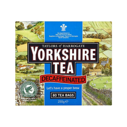 Yorkshire Decaf Tea Bags (Pack of 80) 250g