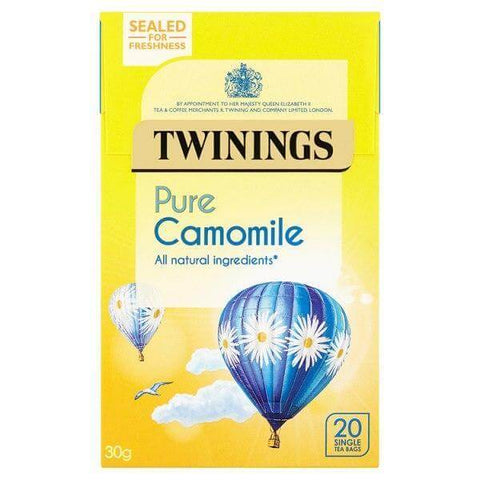 Twinings Tea - Chamomile Pure (Pack of 20 Tea Bags) 30g