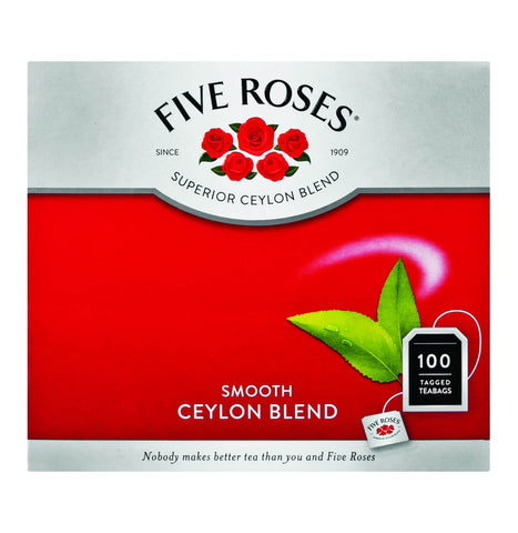 Five Roses Tea - Tagged Tea Bags (Pack of 100 Bags) 250g