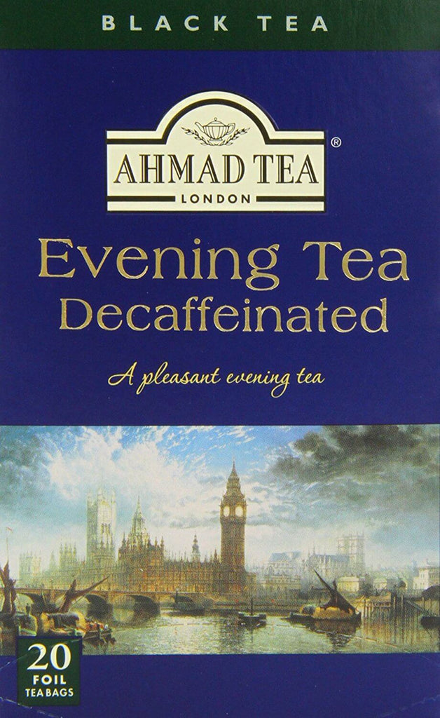 Ahmad Tea - Decaffeinated Evening (Pack of 20 Tea Bags) 40g