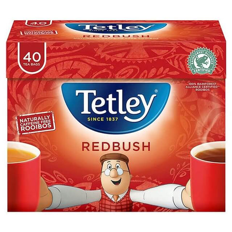 Tetley Tea - Redbush (Pack of 40 Tea Bags) 100g