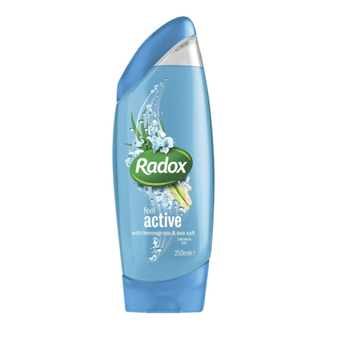 Radox Shower Gel- Active 2 in 1 Shower Gel and Shampoo 250ml