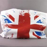 British Brands UK T-Shirts - White-Faded Flag - Small 232g