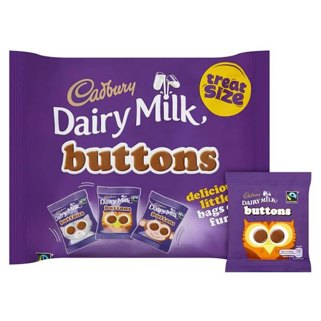 Cadbury Dairy Milk Buttons Treat Size (Pack of 12 Bags) 170g