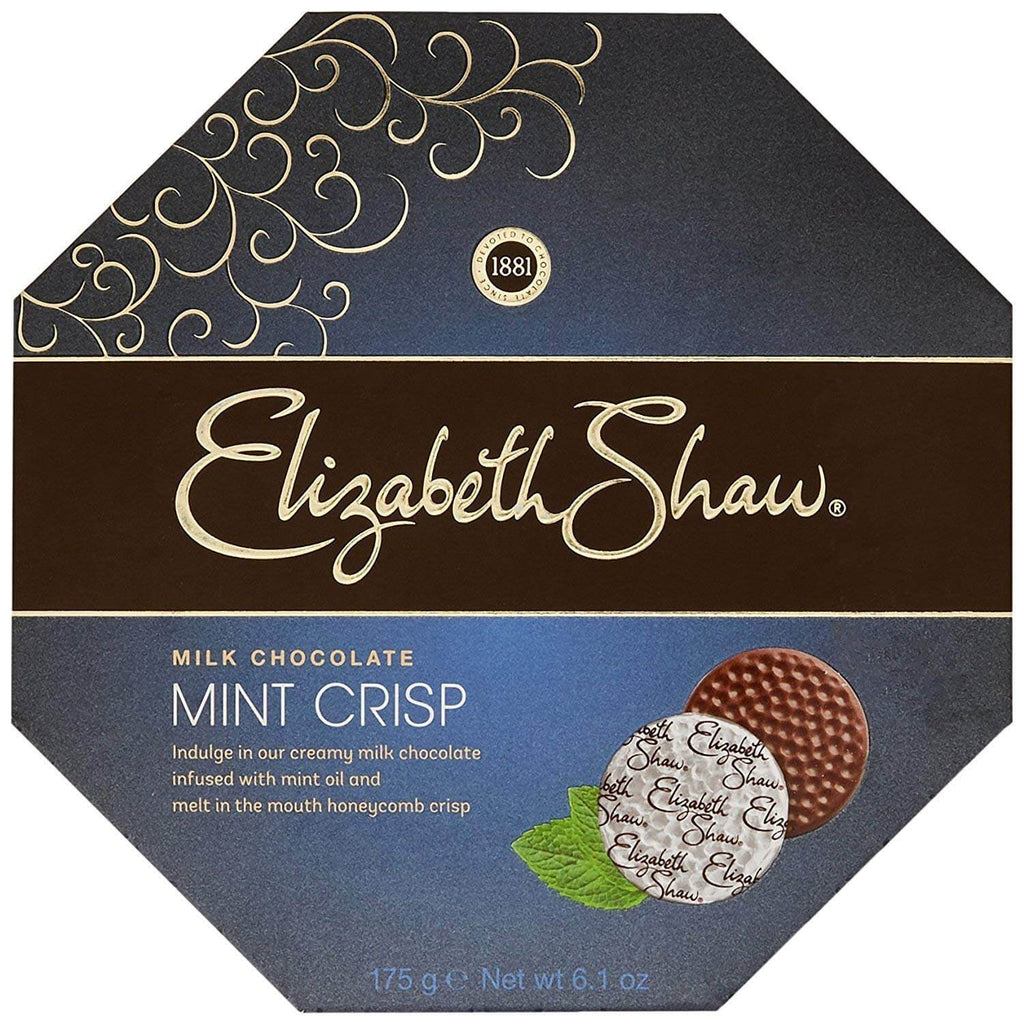 Elizabeth Shaw Milk Chocolate Mint Crisp 175g