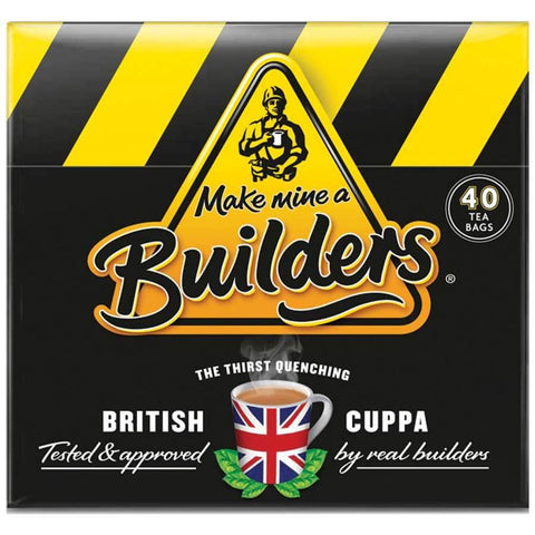 Builders Tea (Pack of 40 Teabags) 125g