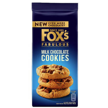 Foxs Biscuits - Chunkie Milk Chocolate Cookies 180g