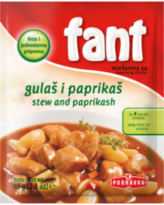 Podravka Fant Seasoning For Stews and Paprikash 2.3oz