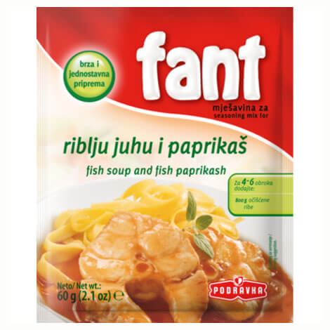Podravka Fant Seasoning For Fish Soup and Fish Paprikash 60g