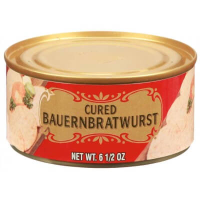 Geiers Cured Bauernbratwurst Tinned Meat 180g