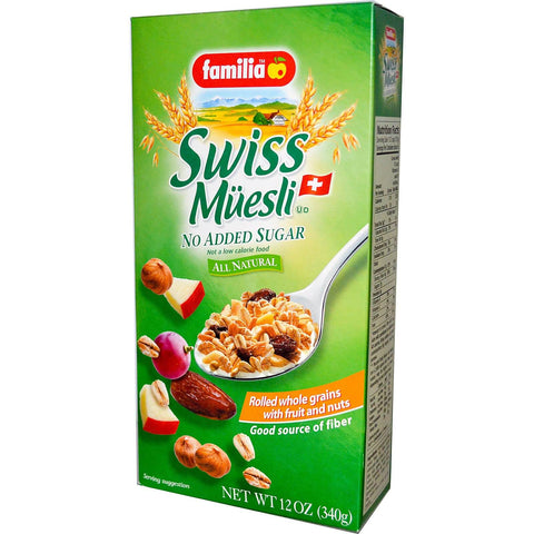 Familia Swiss Muesli With Fruit and Nuts, No Sugar Added 340g