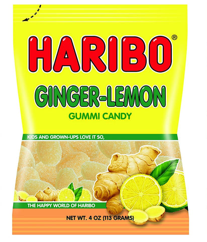 Haribo Ginger Lemon Gummi Candy 113g