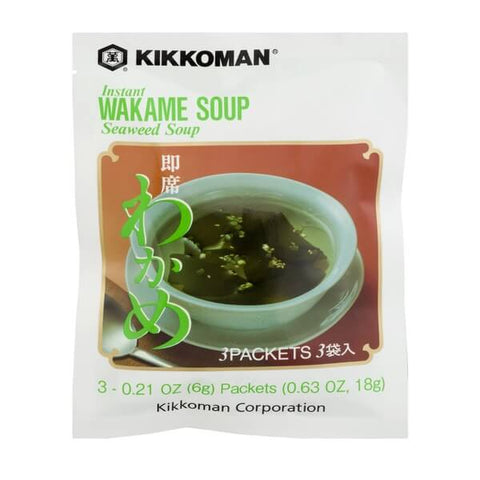 Kikkoman Instant Wakame Soup (3 Packets) 18g