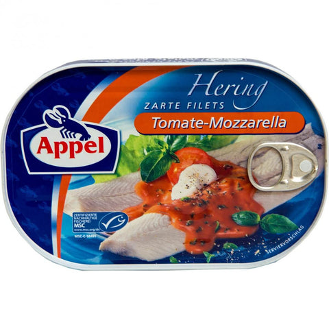 Appel Hering Zarte Filets Tomate-Mozzarella 200g