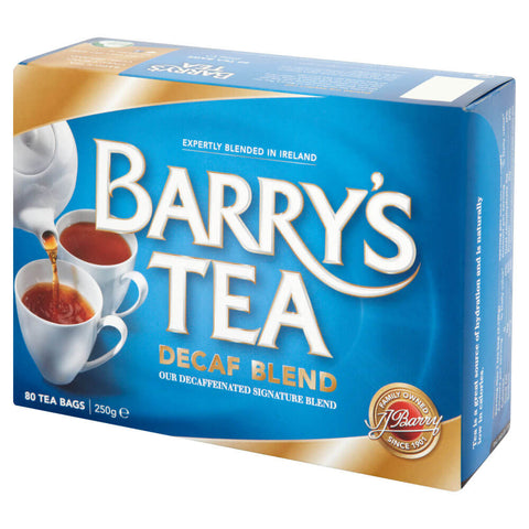 Barrys Decaffeinated Tea (80 Tea Bags) 250g