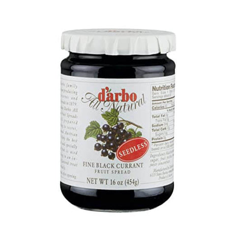 D Arbo Fine Black Currant Seedless Fruit Spread 454g