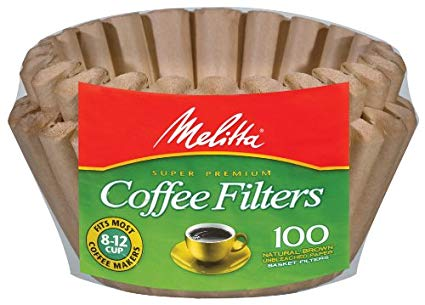 Melitta Coffee Filters 8-12 Cup Natural Brown (100 Basket Filters) 98g