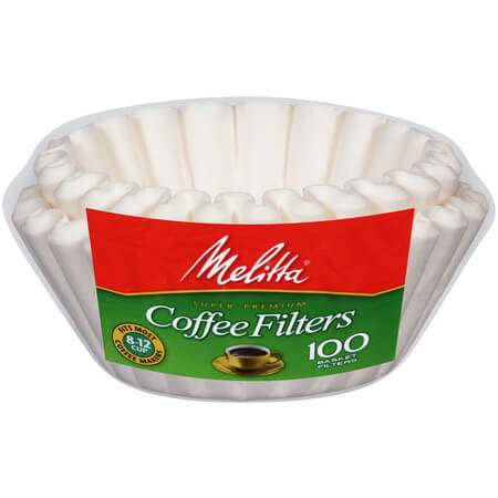 Melitta Coffee Filters 8-12 Cup White (100 Basket Filters) 98g