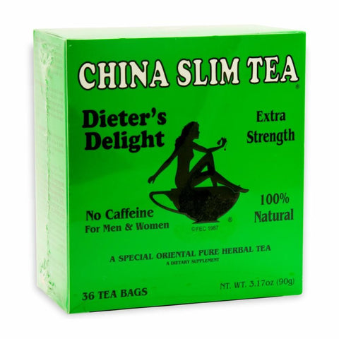 Tea Pot Brand China Slim Tea Dieters Delight Extra Strength Tea (36 Tea Bags) 90g