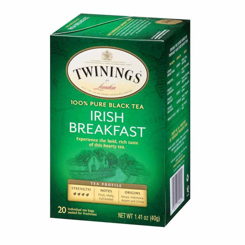 Twinings of London Tea - Irish Breakfast (Pack of 20 Tea Bags) 40g
