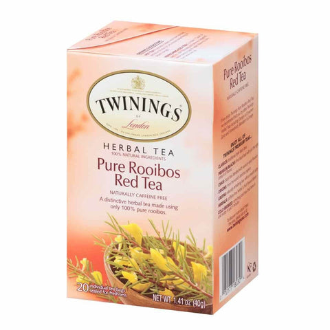 Twinings of London Tea - Rooibos Red Tea Naturally Caffeine Free (Pack of 20 Tea Bags) 40g