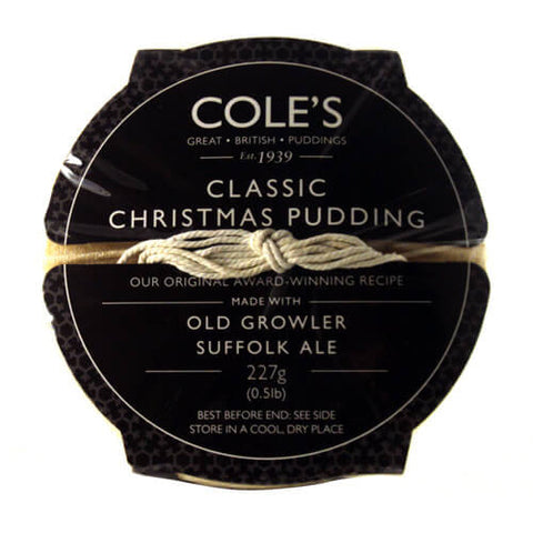 Coles Christmas Pudding - Classic with a Traditional Cotton Bag 227g