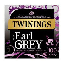 Twinings Tea -  Earl Grey (Pack of 100 Tea Bags) 250g