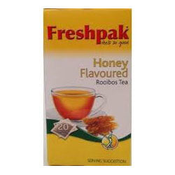 Freshpak Rooibos Tea - Sweet Honey Tea Bags (Pack of 20 Bags) 50g