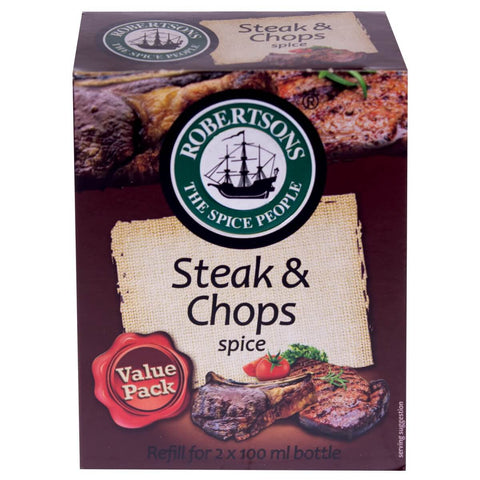 Robertsons Steak and Chops Spice Refill 160g