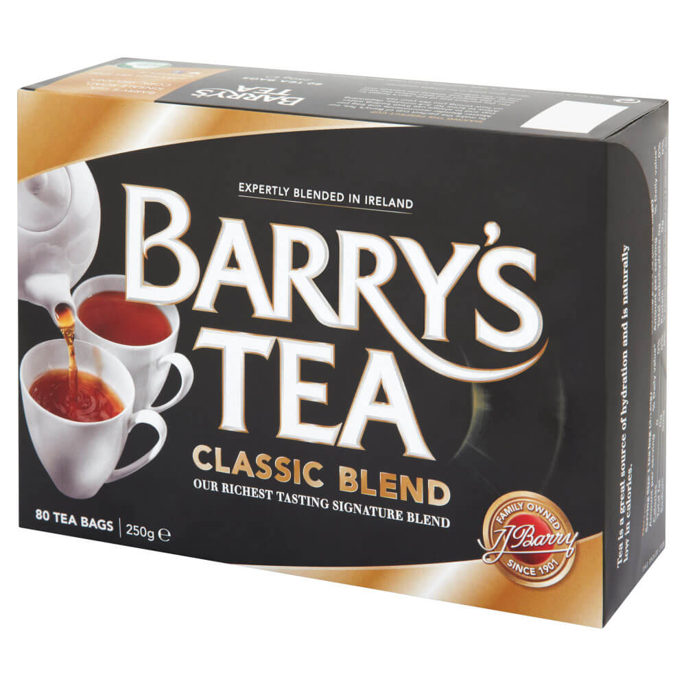 Barrys Classic Blend Tea Bags (Pack of 80) 250g