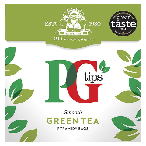 PG Tips Green Tea Bags (Pack of 25) 35g
