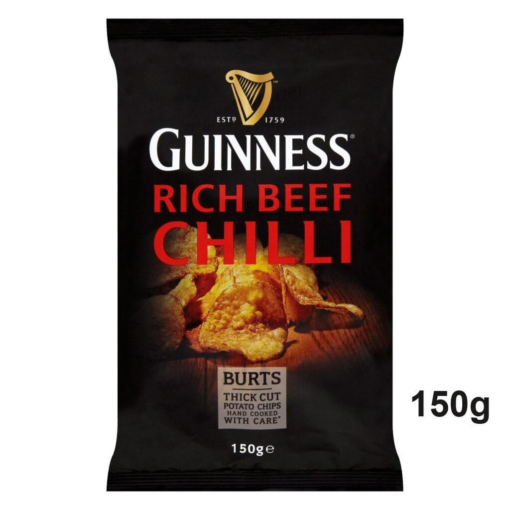 Burts Crisps - Guinness and Rich Chilli Thick Cut Potato Chips 150g