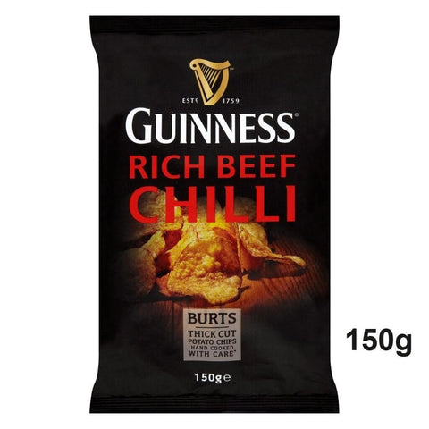 Burts Guinness and Rich Chilli Thick Cut Potato Chips 150g