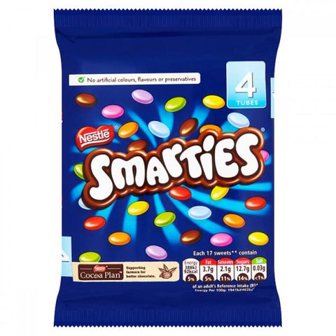 Nestle Smarties Tubes (Pack of 4) 152g