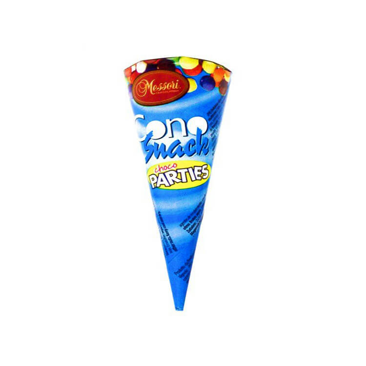 Messori Choco Parties Cone with Multi-coloured Drops 25g