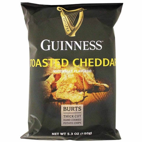 Burts Crisps - Mature Cheddar and Green Onion Thick Cut Potato Chips 150g