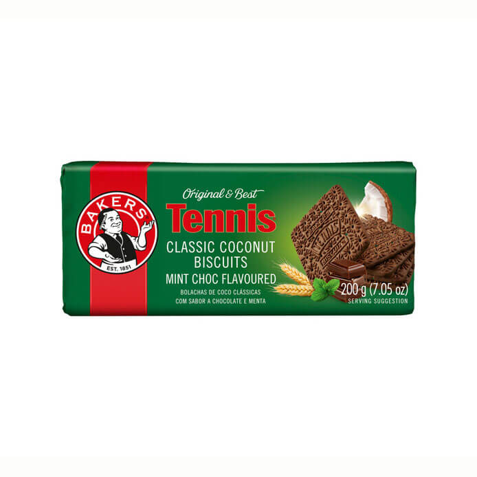 Bakers Tennis - Chocolate Mint Flavoured Biscuits 200g