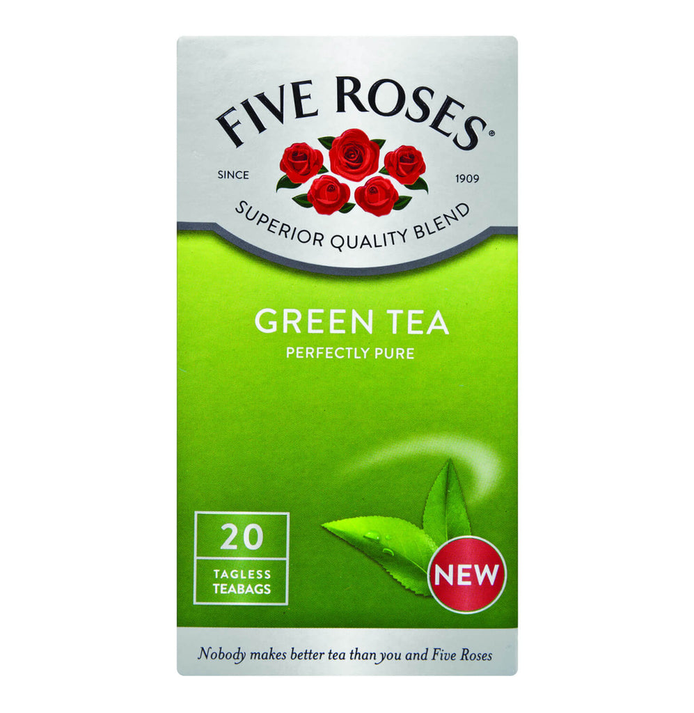 Five Roses Tea - Green Tea Bags (Pack of 20 Bags) 30g