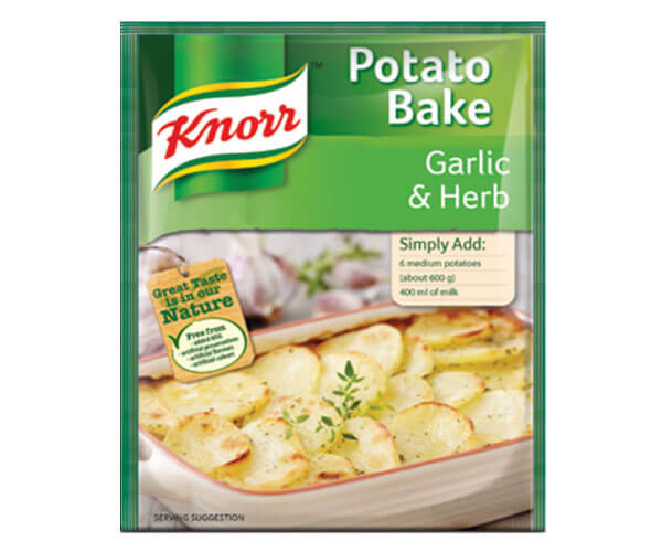 Knorr Garlic Herb Potato Bake 43g