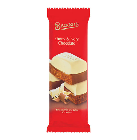 Beacon Ebony and Ivory Chocolate Slab (Kosher) 80g
