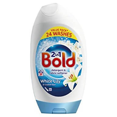 Bold White Lily and Crystal Rain Detergent and Fabric Softener 888ml