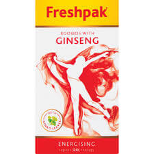 Freshpak Rooibos Tea - Rooibos and Ginseng Teabags (Pack of 20 Bags) 30g