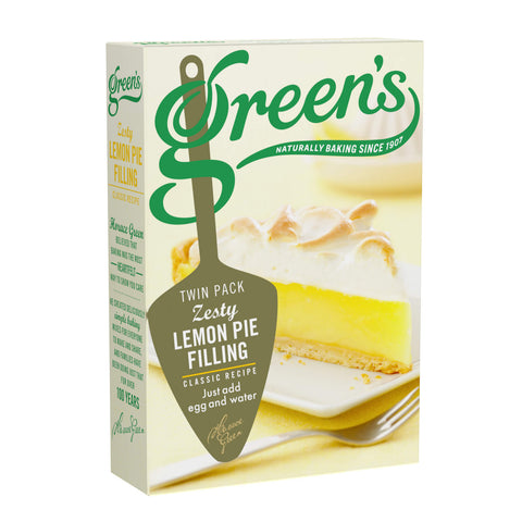 Greens Zesty Lemon Pie Filling (Pack of 2) 140g